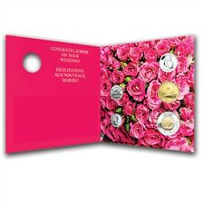 Biglietto auguri Matrimonio Cartolina d'auguri con Monete NUOVO