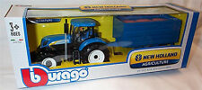 New Holland T740 1:32 Scale Diecast Tractor plastic trailer burago