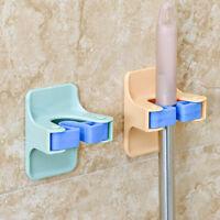Mop Holder Self Adhesive Mop Brush Broom Organizer Wall Hanger Bathroom Tools O