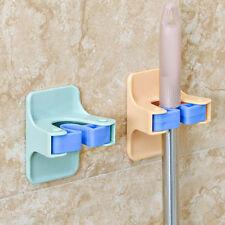 Mop Holder Self Adhesive Mop Brush Broom Organizer Wall Hanger Bathroom Tool FG