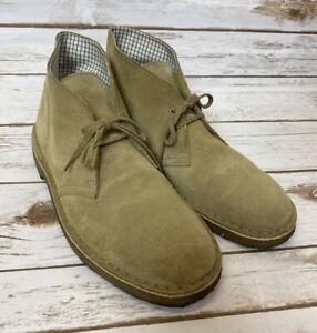 Clarks Originals Chukka Desert Boots Tan Suede Lace Up Shoe Men's Sz US 8 M
