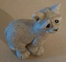 Quarry Critters Second Nature Calypso Large Cat Figurine Synthetic Granite 2001