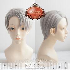 Yuri!!! on Ice Viktor Nikiforov Wig Victor Nikiforov Cosplay Hair Gray Wigs