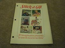 1984 Stitch a Gift Sewing Pattern Booklet with Paper Patterns