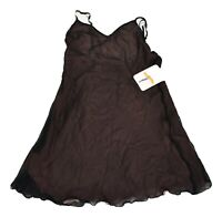 Mary Green Womens Brown Pink Silk Lingerie Chemise Night Slip New S, M, L, XL