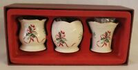 Lenox Peppermint Candy Cane & Ribbons Votive Candle Cups Set of Three New
