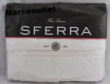 Sferra Finna 3460 Long Staple Cotton Percale King Duvet Cover White