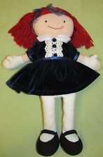 Madam Alexander Madeline Doll Stuffed Blue Velvet Dress Appendix Scar Plush 19""