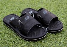 Skechers Men's Memory Foam Sandals Comfort Strap Black Slides Padded Comfort 11