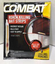 COMBAT Henkel Roach Killing Bait 10 Bait Strips Kills Roaches Fast No Mess NIP