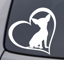 CHIHUAHUA HEART Vinyl Decal Sticker Car Window Wall Bumper Dog Puppy Love Cute