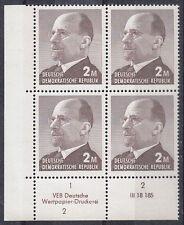 Briefmarken DDR MiNr 1482 b Druckvermerk DV  DWD 2 Ulbricht **