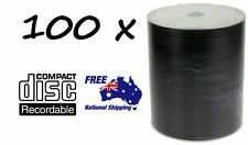100 x DVD-R/DVDR Blank Disk/Disc PLAIN WHITE INKJET PRINTABLE SURFACE 100pcs,Pk