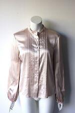 Vintage Burberry Blush Pink Silk Blouse M