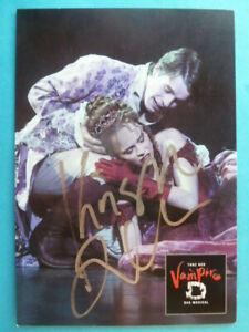 """Krisha Dalke (Alfred), Karte Musical """"Tanz der Vampire"""" (signiert)"""