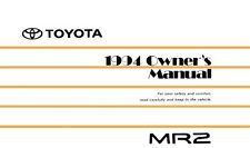 toyota mr2 owners manual in collectibles ebay rh ebay ca Toyota MR2 Spyder Last Year for Toyota MR2