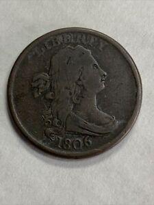 1806 Draped Bust Half Cent -