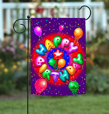NEW Toland - Birthday Confetti - Bright Colorful Party Balloons Garden Flag