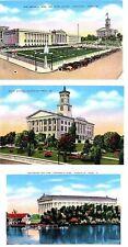 TN - NASHVILLE War Memorial, State Capitol & Partheon & Lake (1930-1944)