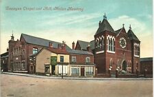 Melton Mowbray. Wesleyan Chapel & Hall # 40426 by Valentine's.