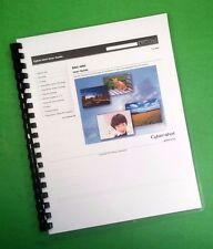 """Sony DSC H90 Camera 174 Page Laser 8.5X11"""" Owners Manual Guide"""