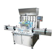 5-1000ml Automatic Six Head Paste Filling Machine with Conveyor PLC Control