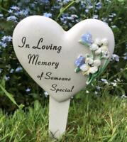 Someone Special Heart Memorial Stake Funeral Graveside Garden DF15085P