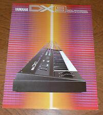 Yamaha DX9 Synthesizer Keyboard - ORIGINAL BROCHURE - Early 1980s