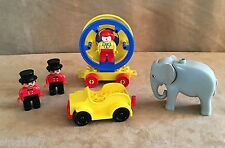 2651 Lego Duplo Vintage Circus Artists Elephant parade clown ringmaster set 1989