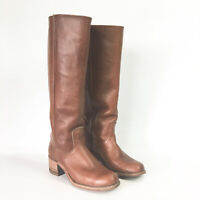 Frye Womens 6.5 B Campus Boots Knee High Leather Tall Riding 6505 USA Vintage