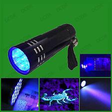 Black Light LED UV Torch Ultra Violet Counterfeit Money Security Marker Detector