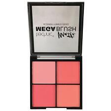 Technic Matte Blusher Mega Blush Quad Pink Peach Pressed Powder Cheeks
