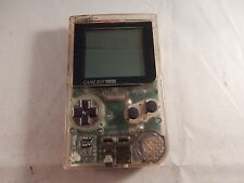 Nintendo Game Boy Pocket Clear Handheld System (WORKING, READ!) #S350