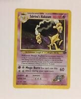 Sabrina's Alakazam Holo Rare Gym Challenge Pokemon Card 16/132