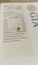 VS1 Round BrillintFancy Yellow GIA Certified Loose Halo Diamond Engagement Ring