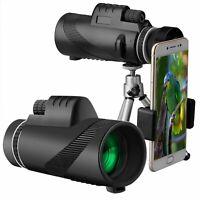 Telescope Monocular 40X60 Hd Outdoor Zoom Binocular Tripod Clip for Mobile Phone