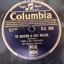 78rpm TRIO LOS PANCHAS yo quiero a esa mujer / una aventura mas
