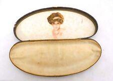 Vintage 1890s Jewelry Box w Gibson Girl? Beautiful Woman  Artwork Inside
