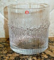 "(1)  IITTALA TAPIO WIRKKALA  NIVA Double Old Fashioned Glass 3 1/2"" 8 oz"