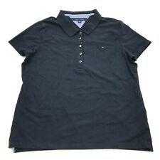 Tommy Hilfiger Chemise Femmes Taille Extra XL Bleu Polo Contraste Manches Courte