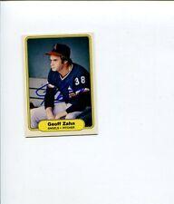 Geoff Zahn California Angels 1982 Fleer Signed Autograph Photo Card