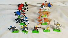 VINTAGE MEDIEVAL KNIGHTS TOY SOLDIERS SWORDS HORSES BRITAINS ROMAN TIMES