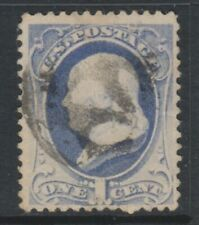 Francobolli statunitensi blu usati