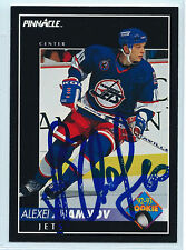 Alexei Zhamnov 1992-93 signed Pinnacle rookie Winnipeg Jets autograph #416