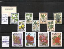 FLORES / FLOWERS - CAPE VERDE - 1968-1980, MNH sets (1 used stamp)