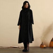 Plus Size S-5XL ZANZEA Women Hooded Buttons Long Sleeve Coat Jacket Dress Kaftan