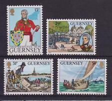 Guernsey 1984 Lt Gen Sir John Doyle sello conjunto estampillada sin montar o nunca montada SG 328-331