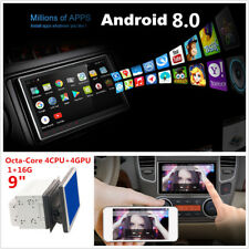 """9"""" Double 2 Din Android 8.0 Octa-Core 1+16G Car Stereo Radio GPS Wifi 3G/4G OBD"""