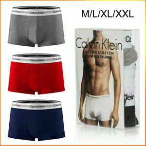 3er Pack Calvin Klein CK Boxershorts Herren Unterwäsche Low Rise Trunks DE