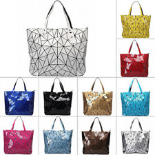 Quilted Sequin Shoulder Bag Geometric Lattice Laser Ladies Handbag Women Summer